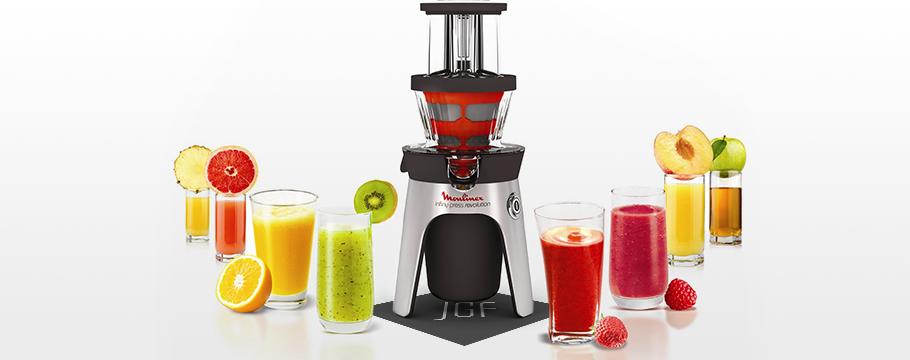 Testé pour vous : l'extracteur de jus de fruits et de légumes Moulinex !